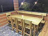 Деревянный стол 3000х1200 мм под старину ручной работы для кафе, дачи от производителя. Wood Table 19, фото 9