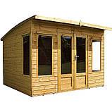 Беседки деревянные 2,4х2,9 закрытые недорого оптом от производителя Wood Gazebo 008, фото 2