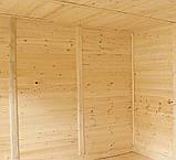 Беседки деревянные 2,4х2,9 закрытые недорого оптом от производителя Wood Gazebo 008, фото 3