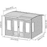 Беседки деревянные 2,4х2,9 закрытые недорого оптом от производителя Wood Gazebo 008, фото 4