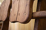 Лавочка скамья со спинкой из термодерева 1670х340 мм. от производителя Thermo-treated Oak bench 02, фото 4