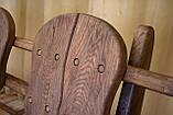 Лавочка скамья со спинкой из термодерева 1670х340 мм. от производителя Thermo-treated Oak bench 02, фото 6
