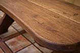Лавочка скамья со спинкой из термодерева 1670х340 мм. от производителя Thermo-treated Oak bench 02, фото 7