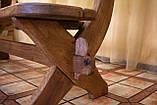Лавочка скамья со спинкой из термодерева 1670х340 мм. от производителя Thermo-treated Oak bench 02, фото 8