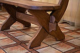 Лавочка скамья со спинкой из термодерева 1670х340 мм. от производителя Thermo-treated Oak bench 02, фото 9