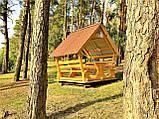 Шестигранная сборная беседка из дерева 4,4 м2 дачная недорого от производителя Wood Gazebo 005, фото 4