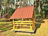 Шестигранная сборная беседка из дерева 4,4 м2 дачная недорого от производителя Wood Gazebo 005, фото 6