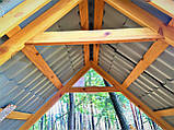 Шестигранная сборная беседка из дерева 4,4 м2 дачная недорого от производителя Wood Gazebo 005, фото 7