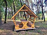 Шестигранная сборная беседка из дерева 4,4 м2 дачная недорого от производителя Wood Gazebo 005, фото 8
