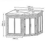 Беседка деревянная закрытая застеклённая 2,8х2,7 от производителя, фото 4