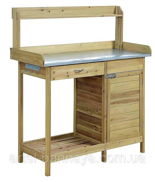Декоративный деревянный стол для работы в саду - (Decorative Table - 04)
