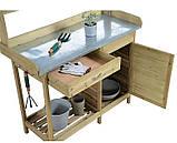 Декоративный деревянный стол для работы в саду - (Decorative Table - 04), фото 2