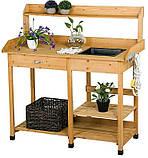 Декоративный деревянный стол для работы в саду - (Decorative Table - 04), фото 4