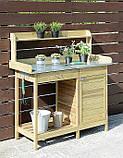 Декоративный деревянный стол для работы в саду - (Decorative Table - 04), фото 5