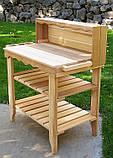 Декоративный деревянный стол для работы в саду - (Decorative Table - 04), фото 6