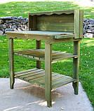 Декоративный деревянный стол для работы в саду - (Decorative Table - 04), фото 8
