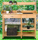 Декоративный деревянный стол для работы в саду - (Decorative Table - 04), фото 10