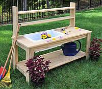 Декоративный деревянный стол для работы в саду - (Decorative Table - 06)