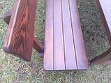 Садовая мебель из массива дерева 2500х1000 для дачи Покрытие итальянский масло-воск, комплект Furniture set-29, фото 2