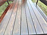 Садовая мебель из массива дерева 2500х1000 для дачи Покрытие итальянский масло-воск, комплект Furniture set-29, фото 4