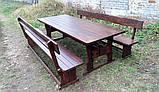 Садовая мебель из массива дерева 2500х1000 для дачи Покрытие итальянский масло-воск, комплект Furniture set-29, фото 7
