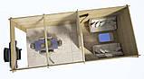 Закрытая беседка из бруса 3х3 с открытым навесом 3х4,5 м. низкая цена от производителя, фото 4