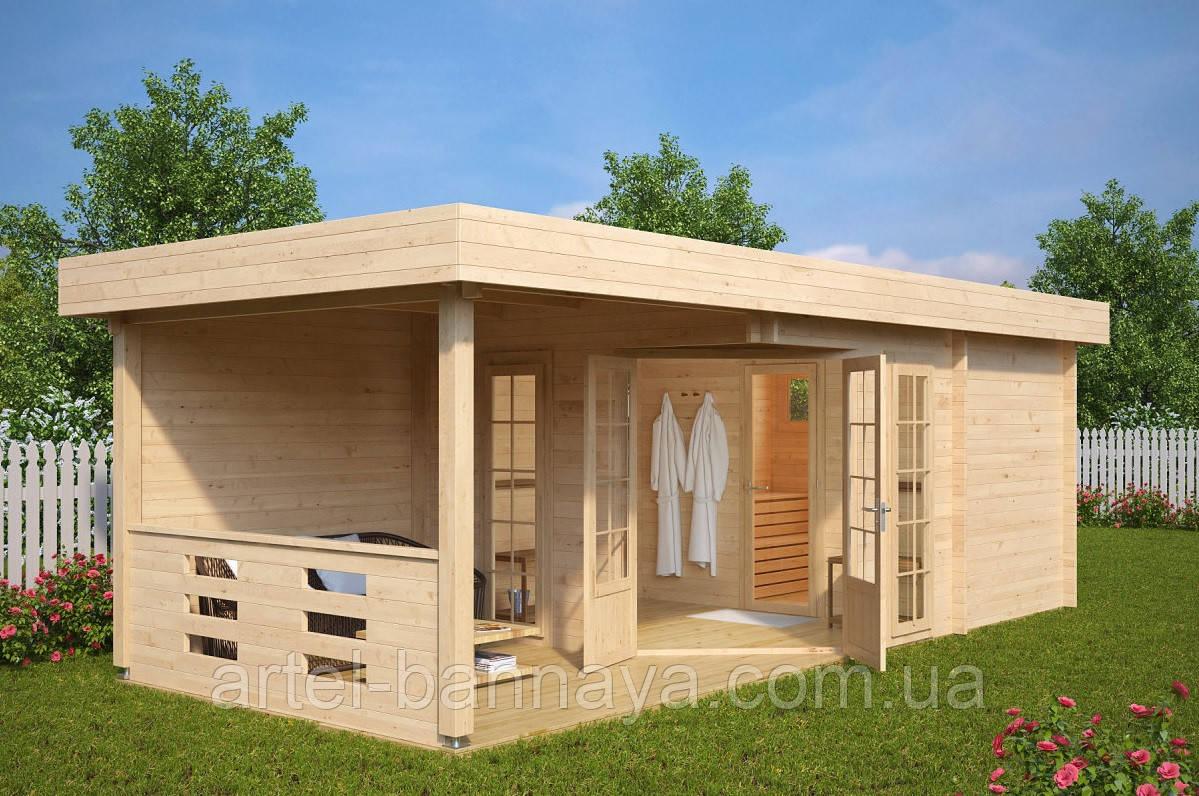 Баня деревянная из профилированного бруса 8х3 м. низкая цена от производителя