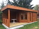 Баня деревянная из профилированного бруса 8х3 м. низкая цена от производителя, фото 2