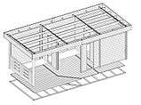 Баня деревянная из профилированного бруса 8х3 м. низкая цена от производителя, фото 4