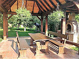 Деревянный стол 1500х900 мм из натурального дерева для кафе, дачи от производителя. Wood Table 08, фото 8
