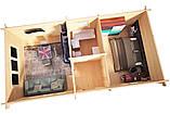 Беседка деревянная из профилированного бруса с закрытой комнатой  9х4.5 м. низкая цена от производителя, фото 3