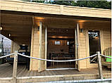 Беседка деревянная из профилированного бруса 5.2х6 м. низкая цена от производителя, фото 4