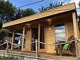 Беседка деревянная из профилированного бруса 5.2х6 м. низкая цена от производителя, фото 5