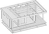 Беседка деревянная из профилированного бруса 5х8 м. низкая цена от производителя, фото 7