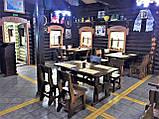 Деревянный стол 900х900 мм из массива сосны ручной работы для кафе, дачи от производителя. Wood Table 01, фото 4