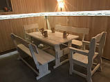 Деревянный стол 900х900 мм из массива сосны ручной работы для кафе, дачи от производителя. Wood Table 01, фото 5