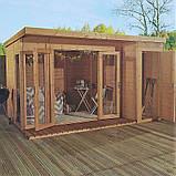 Беседка деревянная 2,4х3,7 закрытая от производителя, фото 2