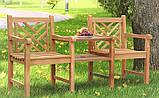 Лавочка скамья со спинкой 1740 х 650 мм от производителя Garden park bench 21, фото 2