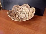 Тарелка 6 лепестков из бересты, фото 2