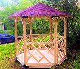 Беседка деревянная восьмигранная, фото 5