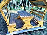 Беседка деревянная восьмигранная, фото 9