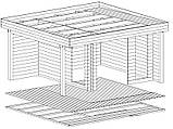 Беседка деревянная из профилированного бруса 4,6х4,2 низкая цена от производителя, фото 3