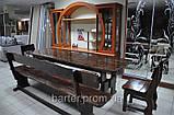 Лавочка, лавка деревянная 2200*370 для дачи, кафе от производителя, фото 2