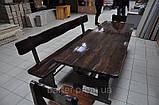 Лавочка, лавка деревянная 2200*370 для дачи, кафе от производителя, фото 3