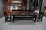 Лавочка, лавка деревянная 2200*370 для дачи, кафе от производителя, фото 4