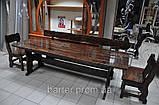 Лавочка, лавка деревянная 2200*370 для дачи, кафе от производителя, фото 6