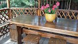 Мебель деревянная для беседки Стол 1800*800 + 4 банкетки 330*330 от производителя, фото 2