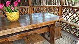 Мебель деревянная для беседки Стол 1800*800 + 4 банкетки 330*330 от производителя, фото 3