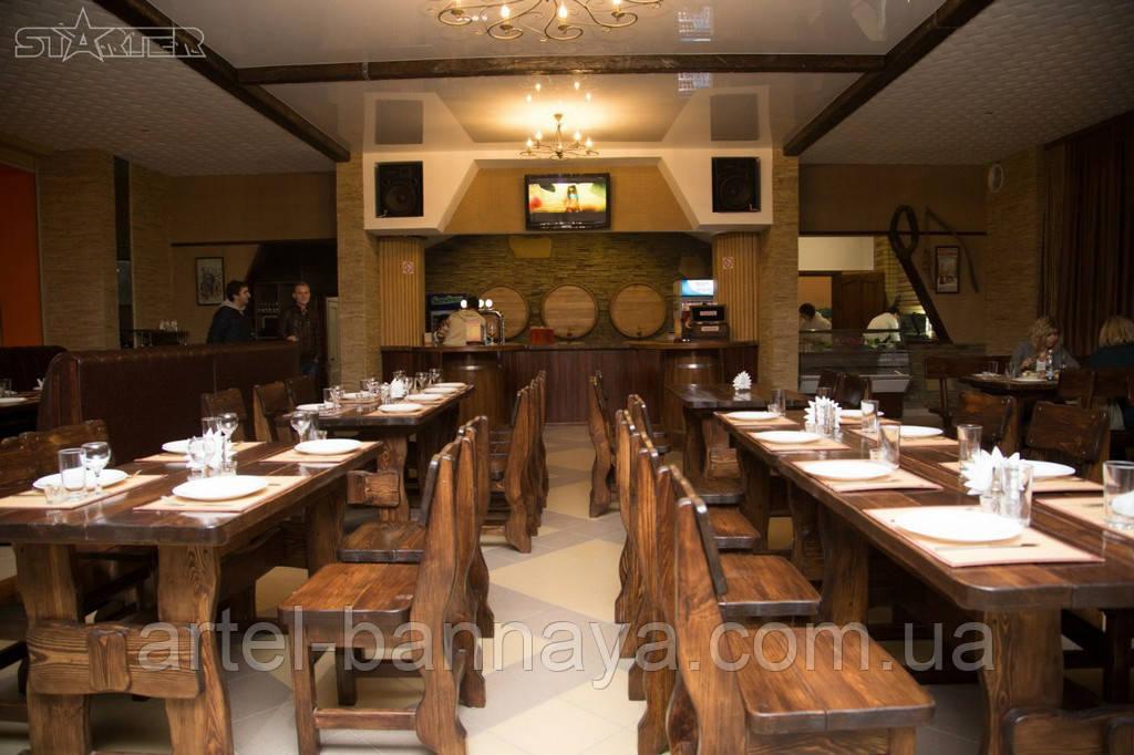 Деревянная мебель для ресторанов, баров, кафе в Трускавце от производителя