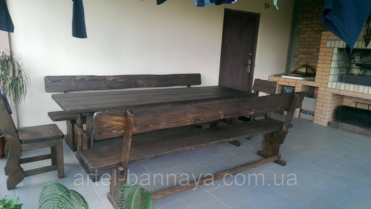 Деревянная мебель для беседок и мангалов в Коростене от производителя